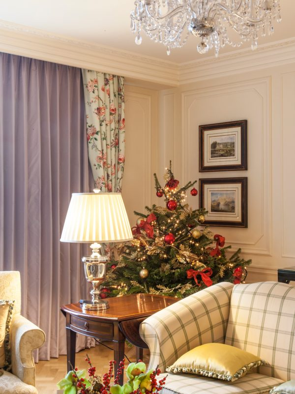 Christmas tree in suite