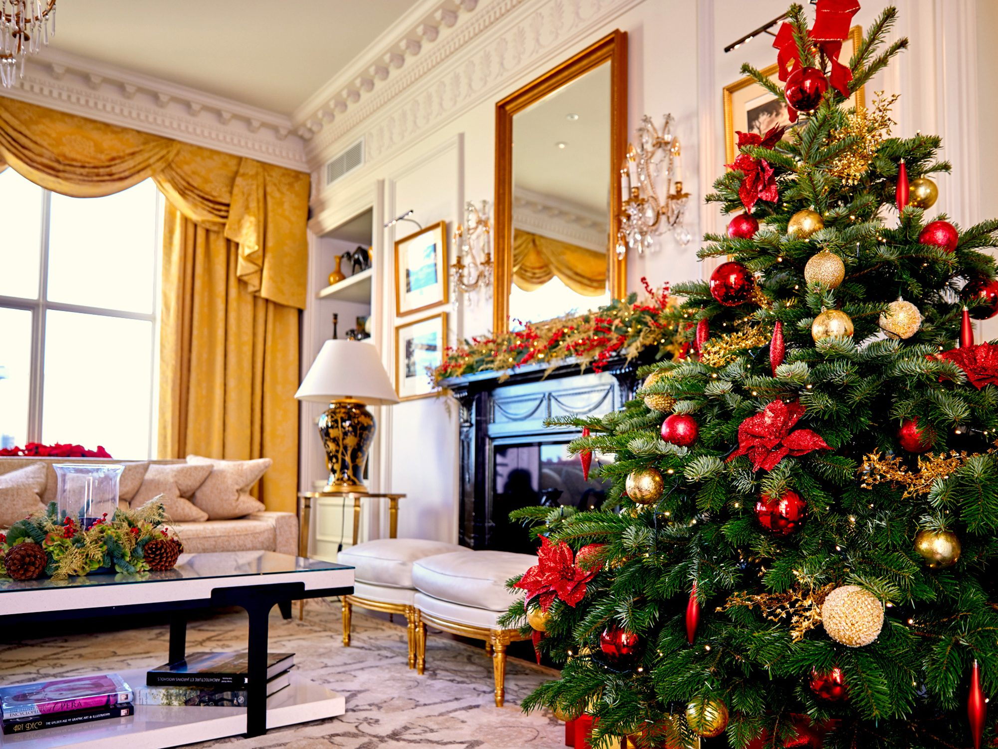 Royal Suite with Christmas tree