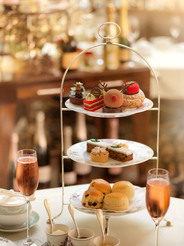 Festive afternoon tea tiered platter