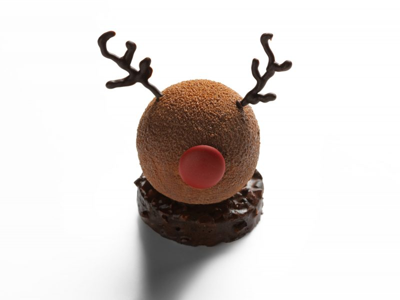Festive afternoon tea reindeer cake