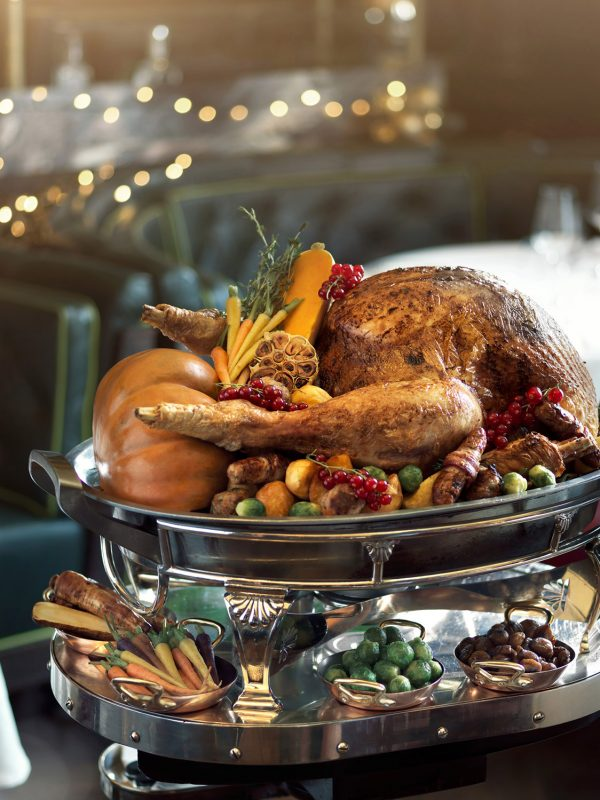 Thanksgiving turkey served on a table